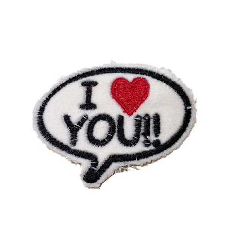 A Love Movement | I LOVE YOU!!  Bubble Embroidered Patch