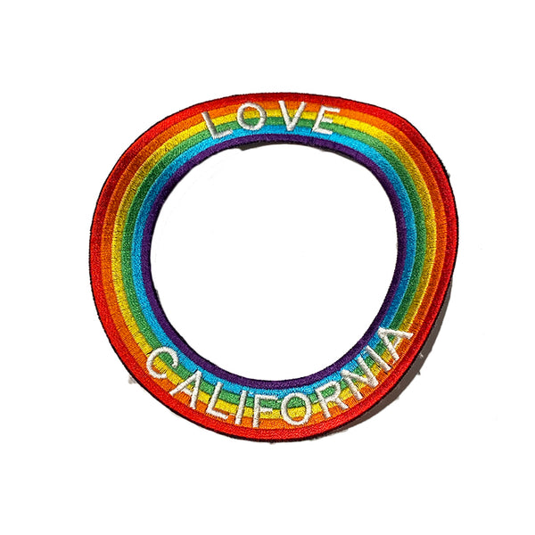 CALIFORNIA Rainbow Circle Patch - A LOVE MOVEMENT