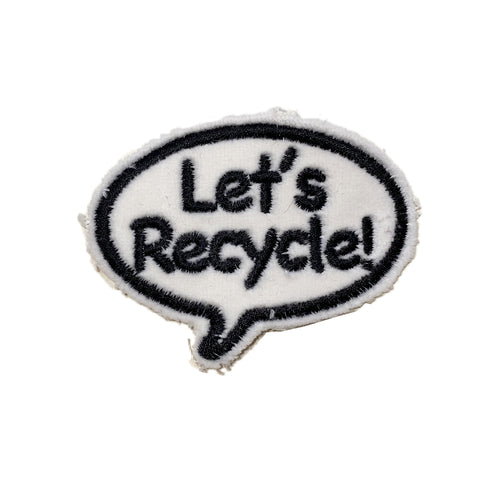 Let's Recycle! Bubble Embroidered Patch