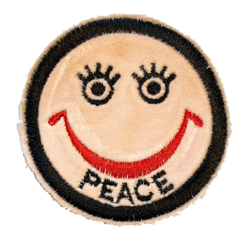 A Love Movement | Peace Smiley Embroidered Patch