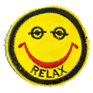A Love Movement | Relax Half Eyes Open Smiley Embroidered Patch