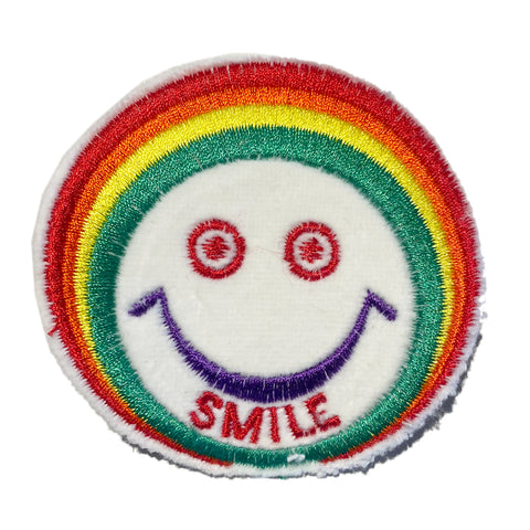 A Love Movement | Rainbow Smile Embroidered Patch Large