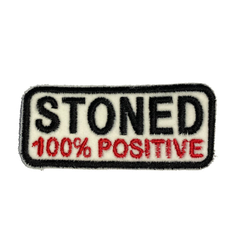 STONED 100% POSITIVE Patch - A LOVE MOVEMENT