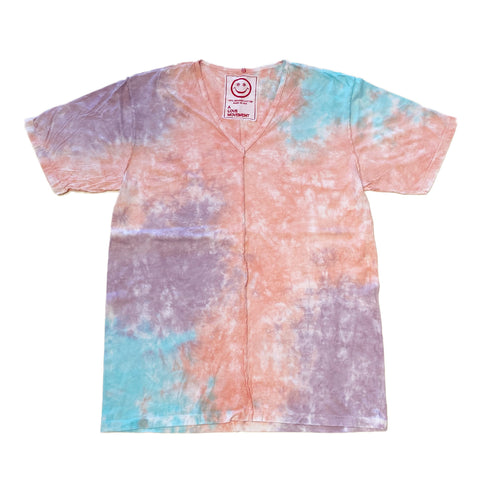 A Love Movement | Tie-Dye Orgasm Cotton V neck Tee