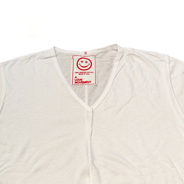 Orgasm Cotton V neck Tee - A LOVE MOVEMENT