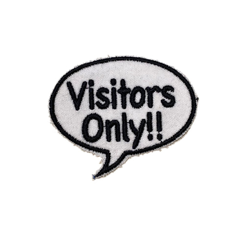 A Love Movement | Visitors Only! Bubble Embroidered Patch
