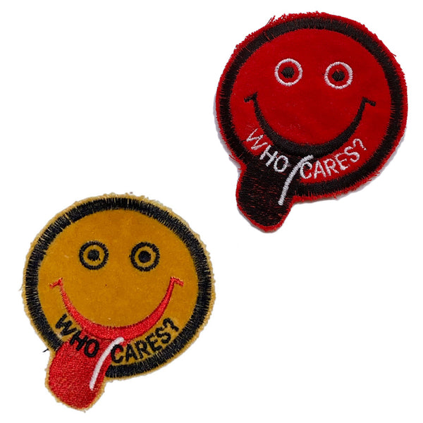 WHO CARES? Smiley Patch - A LOVE MOVEMENT
