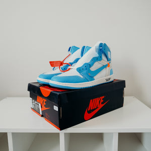 Jordan 1 Retro High Off-White University Blue Sz 11
