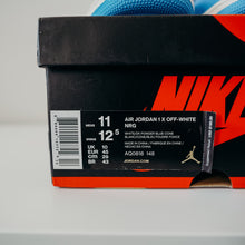 Load image into Gallery viewer, Jordan 1 Retro High Off-White University Blue Sz 11
