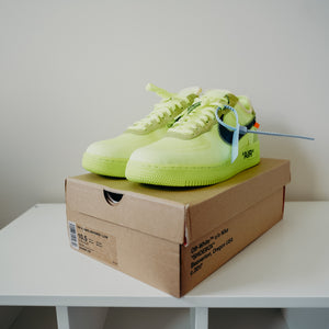 Nike Air Force 1 Low Off-White Volt Sz 10.5