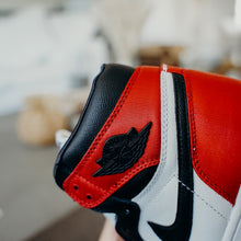 Load image into Gallery viewer, Jordan 1 Retro High Satin Black Toe (W) 10 MENS 8.5