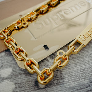 Supreme Chain License Plate Frame Gold