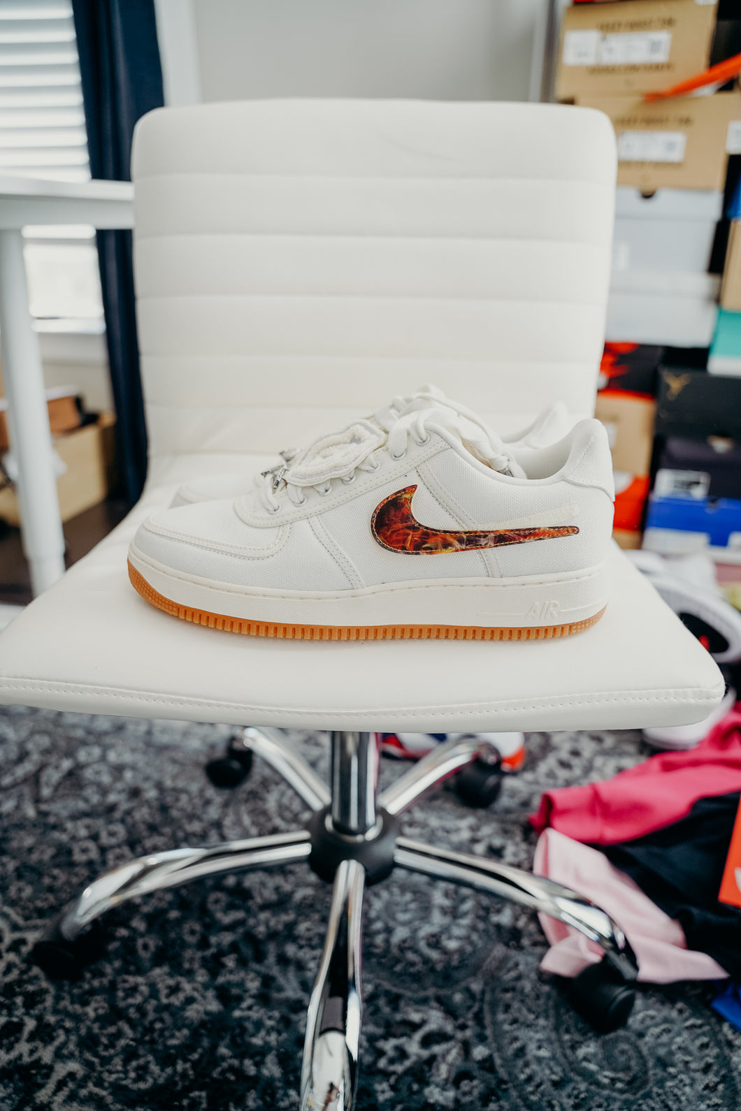 Nike Air Force 1 Low Travis Scott Sail Sz 11