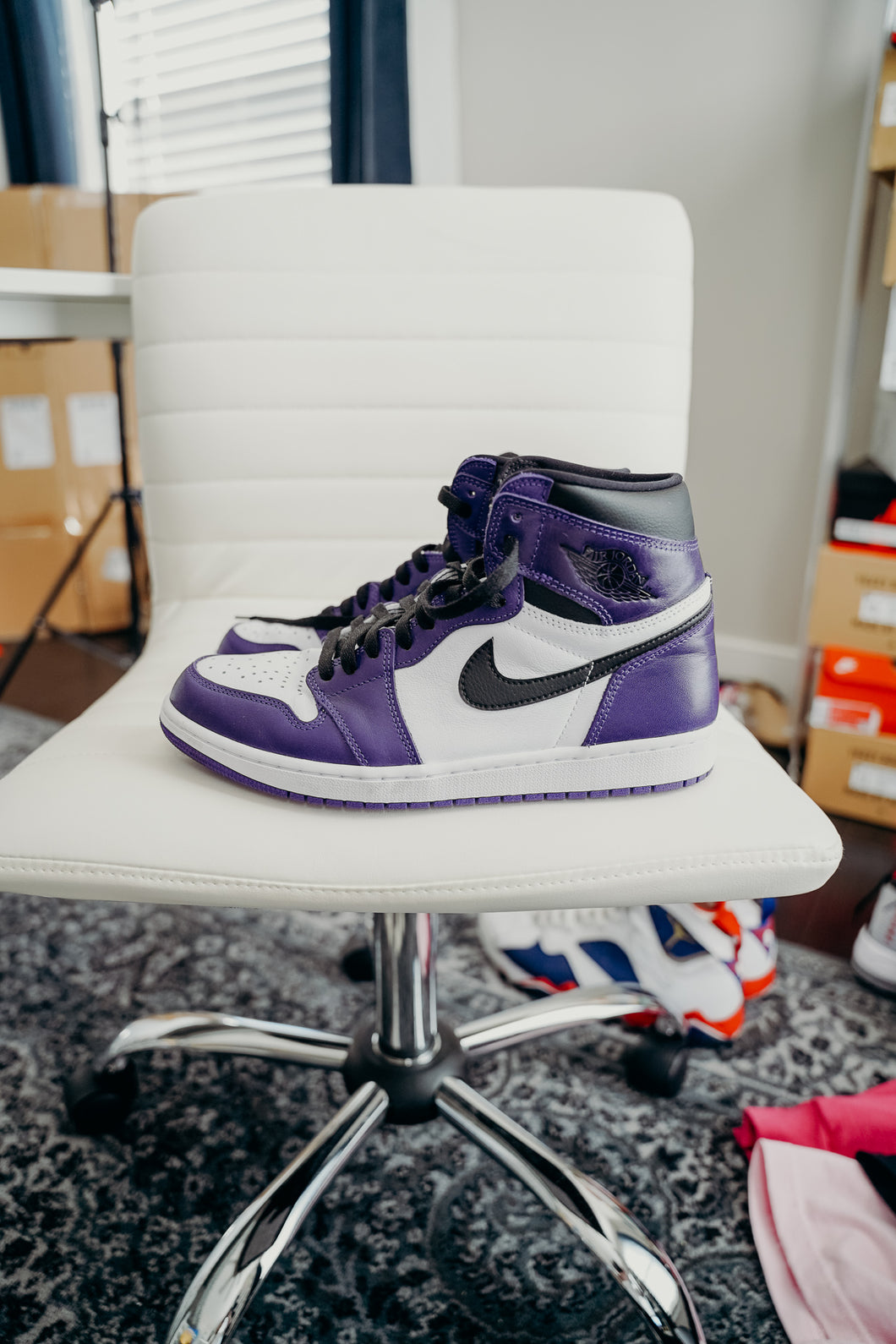 Jordan 1 Court Purple Sz 10.5