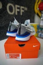 Load image into Gallery viewer, Nike Epic React Flyknit 2 White Black Racer Blue Sz 8