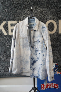 Off White Arrows Denim Jacket Sz S (FITS LIKE XL)
