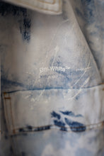 Load image into Gallery viewer, Off White Arrows Denim Jacket Sz S (FITS LIKE XL)