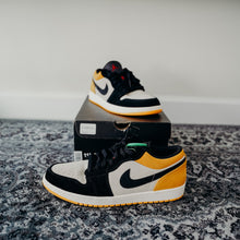 "Load image into Gallery viewer, Air Jordan 1 Low  ""University Gold"" sz 11.5"