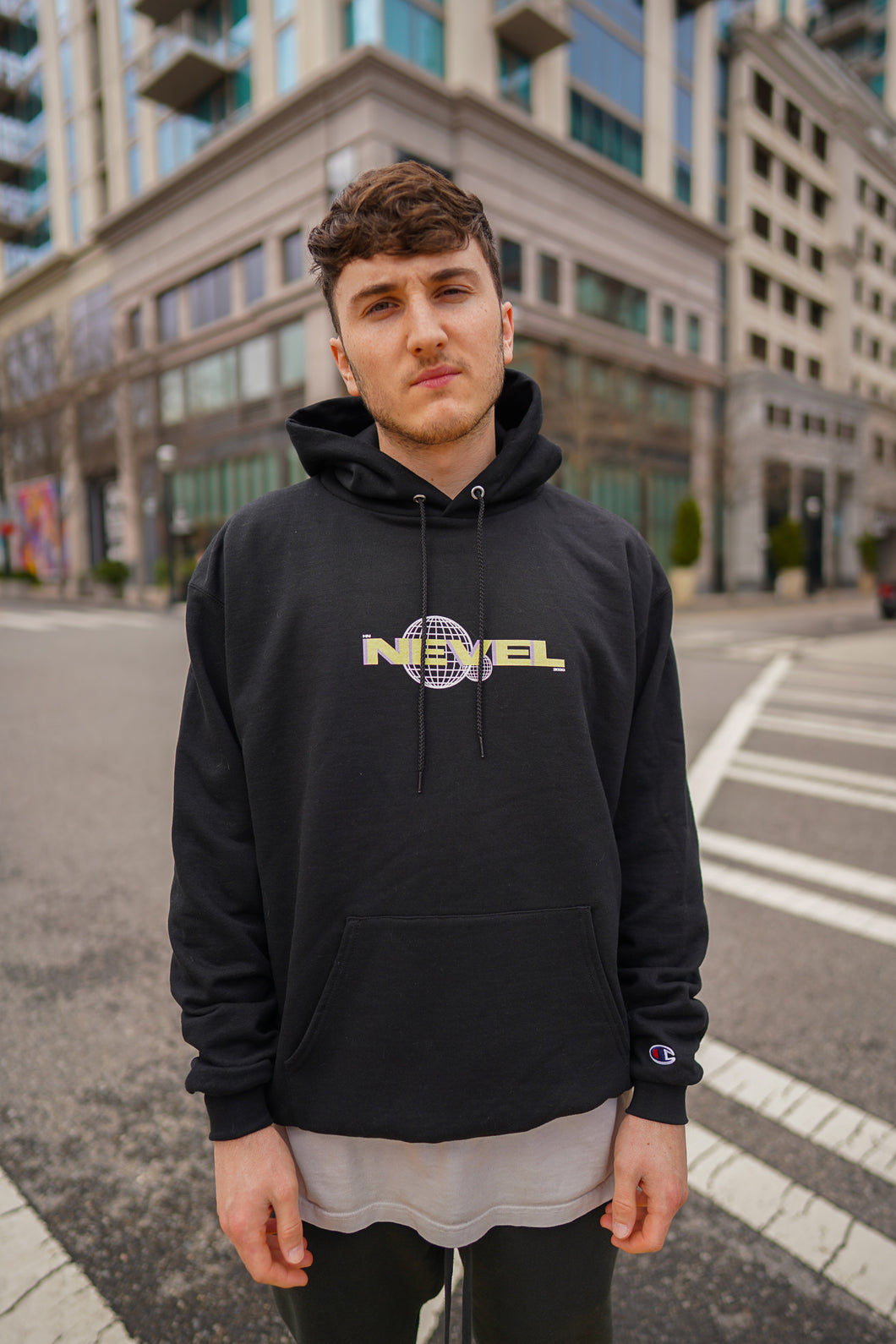 Harrison Nevel Champion hoodie