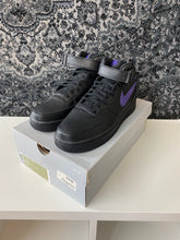 Load image into Gallery viewer, Air Force 1 Mid '07 Purple/Black Sz 10.5