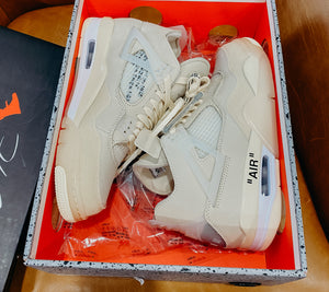 Jordan 4 Retro Off-White Sail Sz Women's 9 Mens 7.5