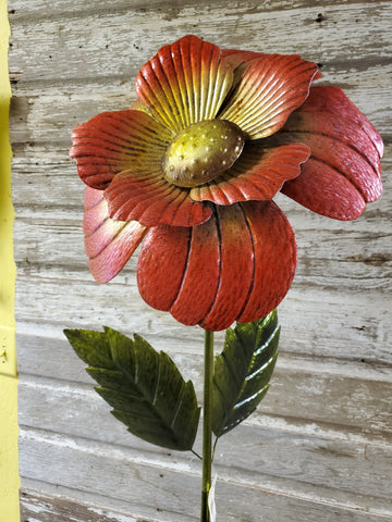 "Stake Giant Flower 16""x65"" Red"