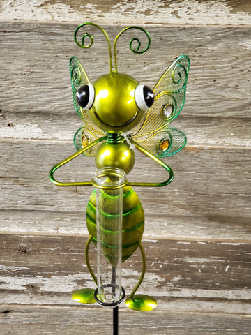 "Stake Rain Gauge Bug 36""x6"" Dragonfly Green"
