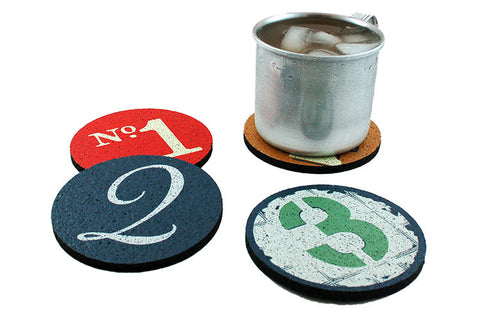Flox 'Numbers' Rubber Coasters