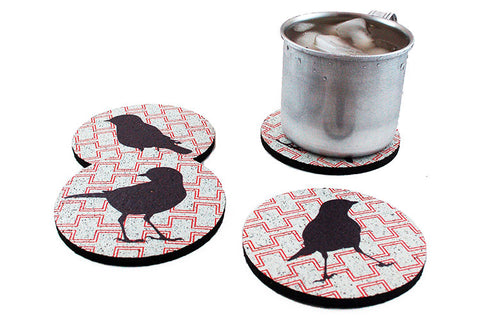 Flox 'Cheeky Birds' Rubber Coasters