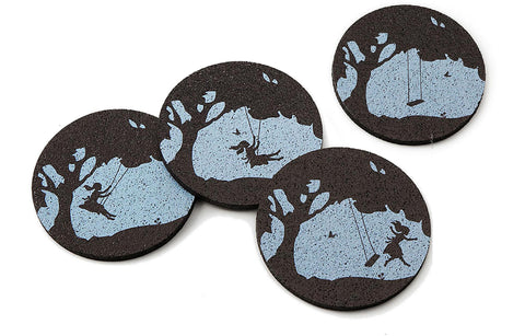 Flox 'Whimsical Memories' Rubber Coasters