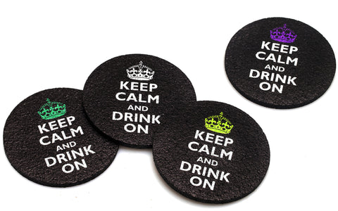 Flox 'Keep Calm and Drink On' Rubber Coasters
