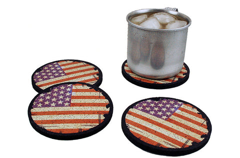 Flox 'US Flags' Rubber Coasters