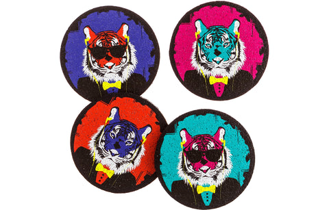 Flox 'Tiger Bite' Rubber Coasters