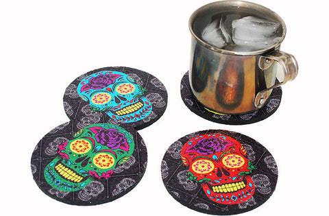 Flox 'Day of the Dead' Rubber Coasters