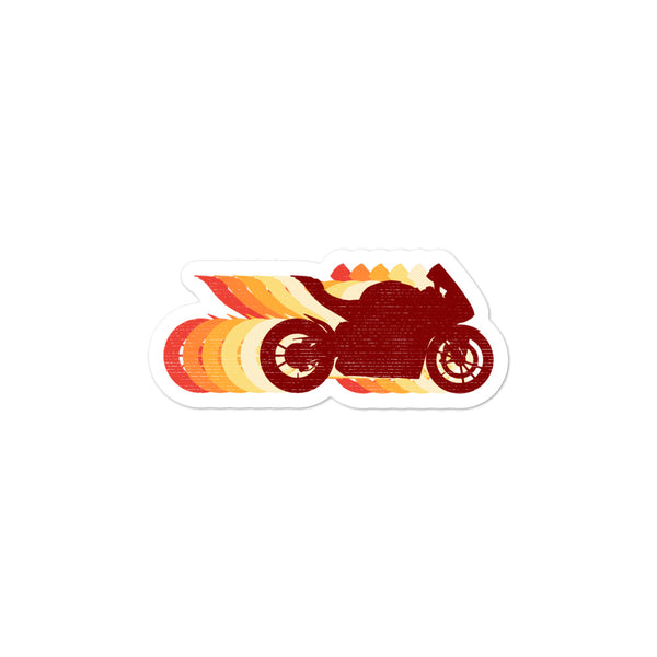 Retro Superbike Distressed Sticker