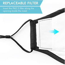 Load image into Gallery viewer, Reusable Washable Cotton Activated Carbon Filter Non-medical Masks