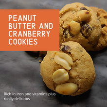 Load image into Gallery viewer, Peanut Butter Cranberry Cookies