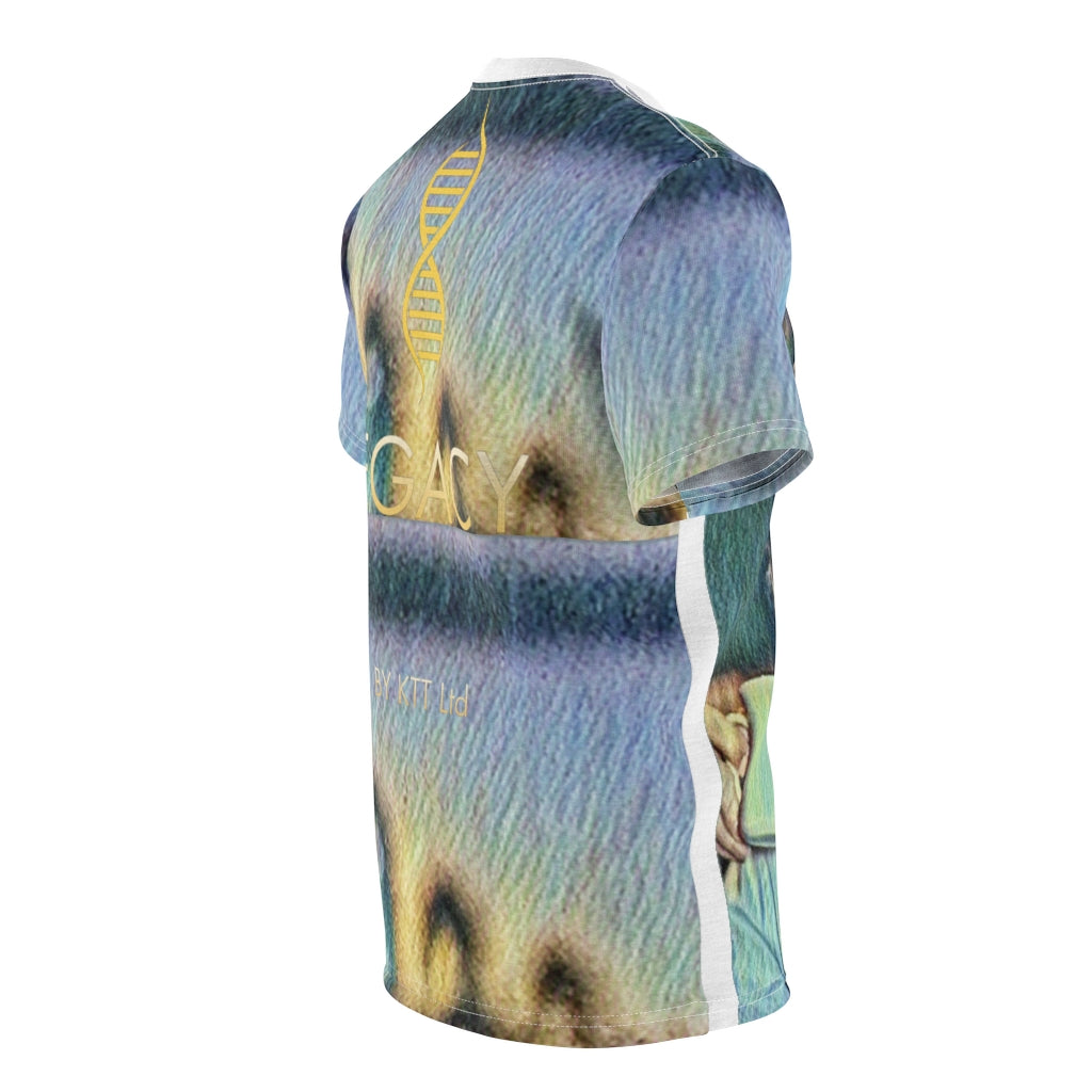 LEGACY by KTT Robin Gibb 'Cuppa Print' Abstract Art Unisex AOP Cut & Sew Tee (Blue Version)