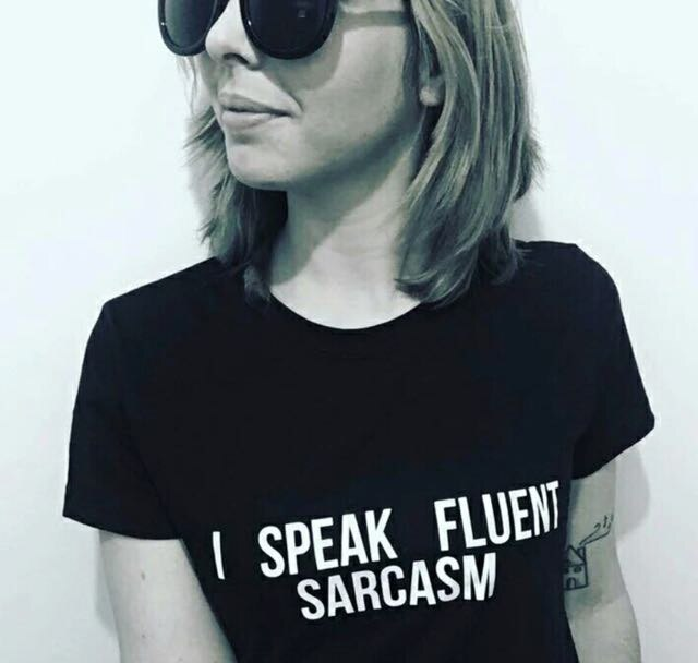 Original 'I SPEAK FLUENT SARCASM' Women's Printed Casual Short Sleeve T-Shirt - FREE SHIPPING -