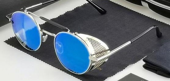 Robin Gibb's Blue Glass Mews by KTT - Bodding's Legacy Blüz - The Official Robin Gibb Signature Blue Sunglasses