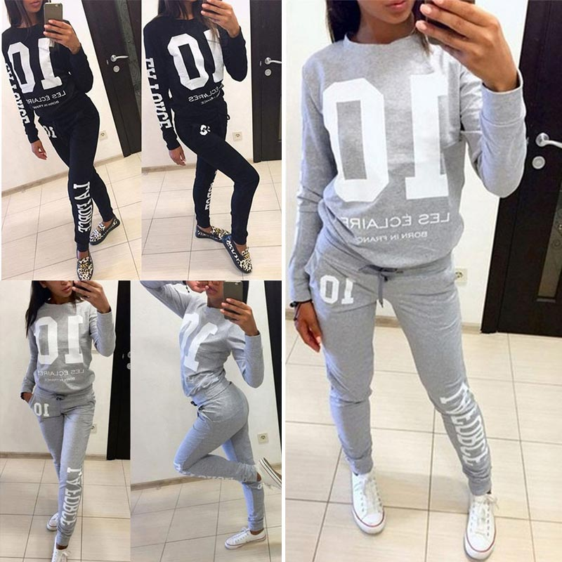 Two-Piece Luxury Loungewear Tracksuit with Sweatshirt & Pants - All Made from 100% Cotton - FREE SHIPPING -