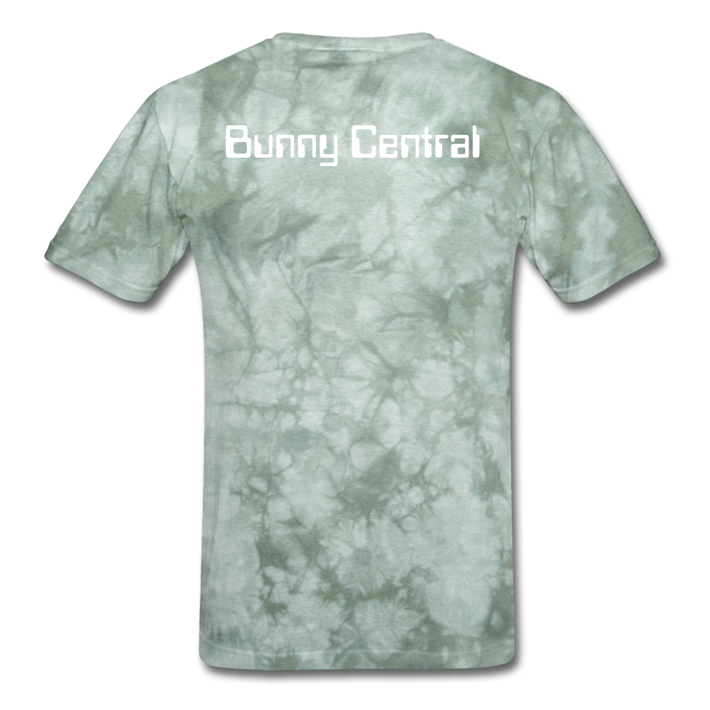 "LEGACY by KTT's BUNNERATION NATION ""Bunny Central"" Men's T-Shirt - military green tie dye"