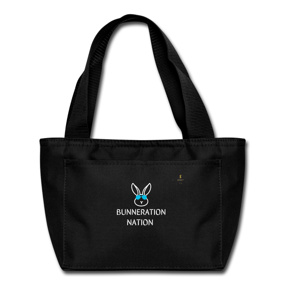 Bunneration Nation Lunch Bag - black