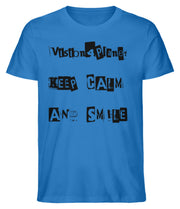 Keep Calm and Smile - Herren Premium Organic Shirt - Vision4Planet