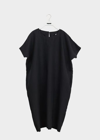 LINEN DRESS, Black, Women