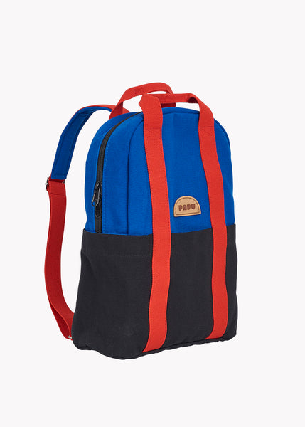MINI KIVI BACKPACK, MULTICOLOR VIVID BLUE, BLACK, LAVA RED