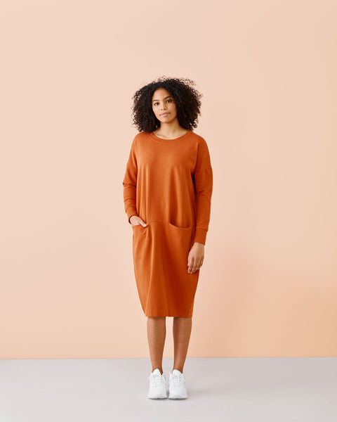 GIANT SPLIT DRESS, Sugar Brown, Adults