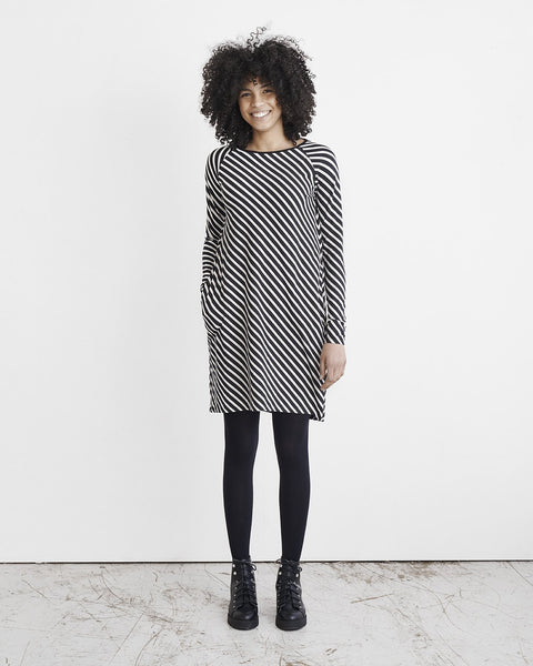 STRIPE TUNIC, BLACK, SAND, Adults