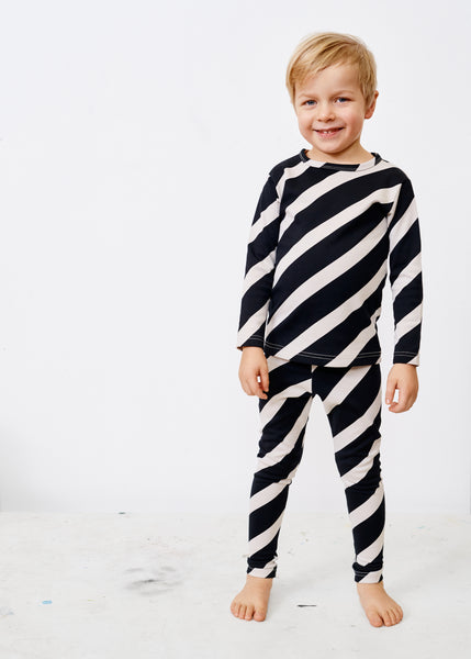 MELLOW SUIT, Huge Stripe, Black/Canvas Grey