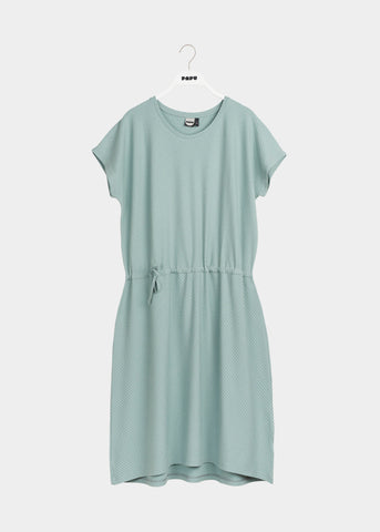 T-DRESS, Muted Green, Diagonal Rib, Women